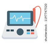 a medical equipment to monitor... | Shutterstock .eps vector #1197747520