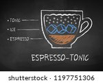 vector chalk drawn sketch of... | Shutterstock .eps vector #1197751306