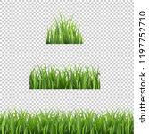 green grass set isolated... | Shutterstock .eps vector #1197752710