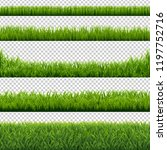 green grass borders set... | Shutterstock .eps vector #1197752716