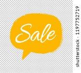 yellow speech bubble... | Shutterstock .eps vector #1197752719