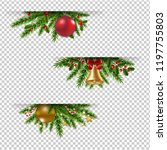 christmas garland set... | Shutterstock .eps vector #1197755803