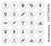 first icon set. collection of... | Shutterstock .eps vector #1197755959