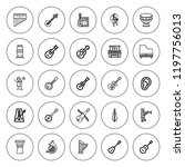 acoustic icon set. collection... | Shutterstock .eps vector #1197756013