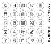 notepad icon set. collection of ... | Shutterstock .eps vector #1197756016