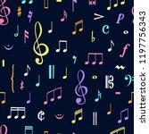 music notes pattern. music...   Shutterstock .eps vector #1197756343