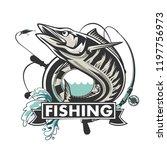 Wahoo Fish. Fishing Logo Vector....