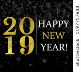 black new year card with... | Shutterstock .eps vector #1197757633