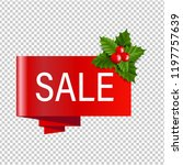 christmas banner with holly... | Shutterstock .eps vector #1197757639