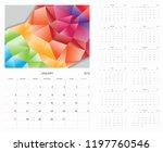 calendar. 2019 calendar. vector ...   Shutterstock .eps vector #1197760546