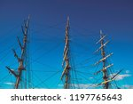 big masts against the sky   Shutterstock . vector #1197765643