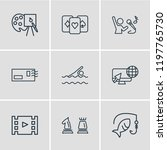 vector illustration of 9... | Shutterstock .eps vector #1197765730