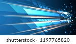 abstract tech background.... | Shutterstock .eps vector #1197765820