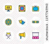 vector illustration of 9 movie... | Shutterstock .eps vector #1197765943