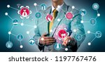 detective spotting cyber threat ...   Shutterstock . vector #1197767476