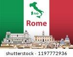 vector abstract travel poster... | Shutterstock .eps vector #1197772936