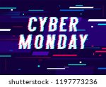 cyber monday promo banner with... | Shutterstock .eps vector #1197773236
