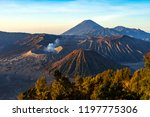 majestic view of mountains at... | Shutterstock . vector #1197775306