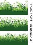 green grass meadow border... | Shutterstock .eps vector #1197775936