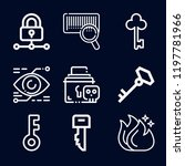 security icon set   outline... | Shutterstock .eps vector #1197781966