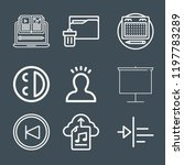 interface icon set   outline... | Shutterstock .eps vector #1197783289