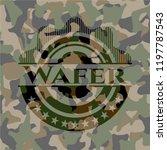 wafer camo emblem | Shutterstock .eps vector #1197787543