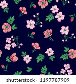 flowers pattern with leaves for ... | Shutterstock .eps vector #1197787909
