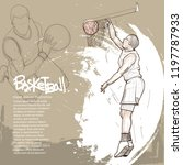 illustration of basketball... | Shutterstock .eps vector #1197787933