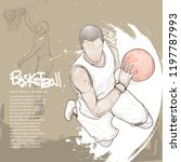illustration of basketball... | Shutterstock .eps vector #1197787993