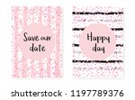 bridal shower set with dots and ... | Shutterstock .eps vector #1197789376