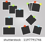 collection of photo frame with... | Shutterstock .eps vector #1197791746