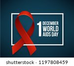 banner with realistic red... | Shutterstock .eps vector #1197808459