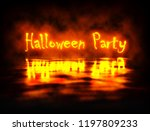 halloween party orange light... | Shutterstock . vector #1197809233