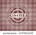 jumble red emblem with...   Shutterstock .eps vector #1197813139