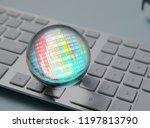 business trade stock forecast...   Shutterstock . vector #1197813790