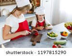 mom and daughter have fun on... | Shutterstock . vector #1197815290
