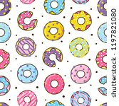 seamless pattern with color... | Shutterstock .eps vector #1197821080