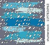 rain drops seamless pattern.... | Shutterstock .eps vector #1197826963