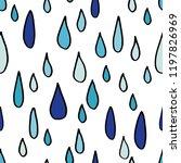 rain drops seamless pattern.... | Shutterstock .eps vector #1197826969