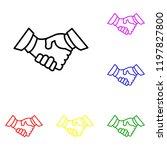 element of business handshake ...