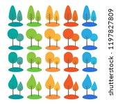vector trees all season... | Shutterstock .eps vector #1197827809