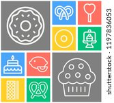 simple set of  10 outline icons ... | Shutterstock .eps vector #1197836053
