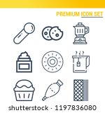 simple set of  9 outline icons... | Shutterstock .eps vector #1197836080
