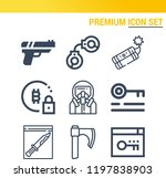 simple set of  9 outline icons... | Shutterstock .eps vector #1197838903