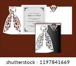 laser cut template of wedding... | Shutterstock .eps vector #1197841669
