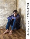 barefoot sad young man in the... | Shutterstock . vector #1197841723