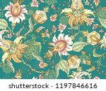 tropical fantasy floral... | Shutterstock .eps vector #1197846616