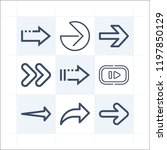 simple set of 9 icons related... | Shutterstock .eps vector #1197850129