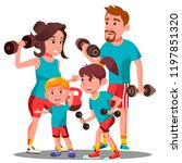 sports family  parents and... | Shutterstock .eps vector #1197851320