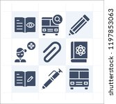 simple set of 9 icons related... | Shutterstock .eps vector #1197853063